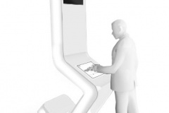 Obudowa Infokiosku z monitorami- kncept
