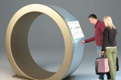 Projekt kiosku.w kształcie obrączki, klientem miała być jedna ze znanych firm jubilerskich