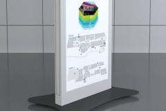 Totem reklamowy do galerii
