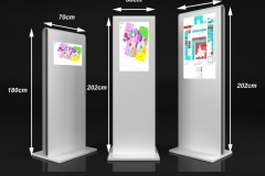 trzy standy multimedialne  wymiary