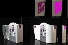 Zabudowa bankomatu i parkometru