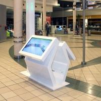 kiosk dotykowy centrum handlowe Janki z włókna szklanego