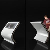 Kiosk stand z ekranem dotykowym Blist z włókna szklanego