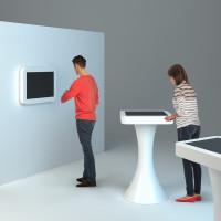 stół dotykowy i monitor multimedialny