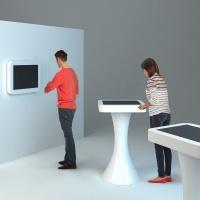 stół dotykowy i monitor multimedialny z włókna szklanego