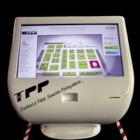 Infokiosk dotykowy z ekranem dotykowym wykonany z włókna szklanego