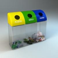 segregacja śmieci kosz przezroczysty