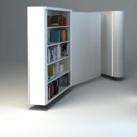 Meble biblioteczka osiedlowa z włókna szklanego