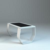 projekt stołu multimedialnego z monitorem dotykowym materiał włókno szklane