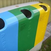 kosz do segregacji odpadów z włókna szklanego