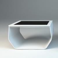 Projekt wizualizacja - stół z monitorem dotykowym