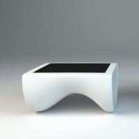 Projekt stołu z ekranem dotykowym z włókna szklanego