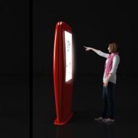Stand kolumnowy z ekranem dotykowym 46 cali wykonany z włókna szklanego