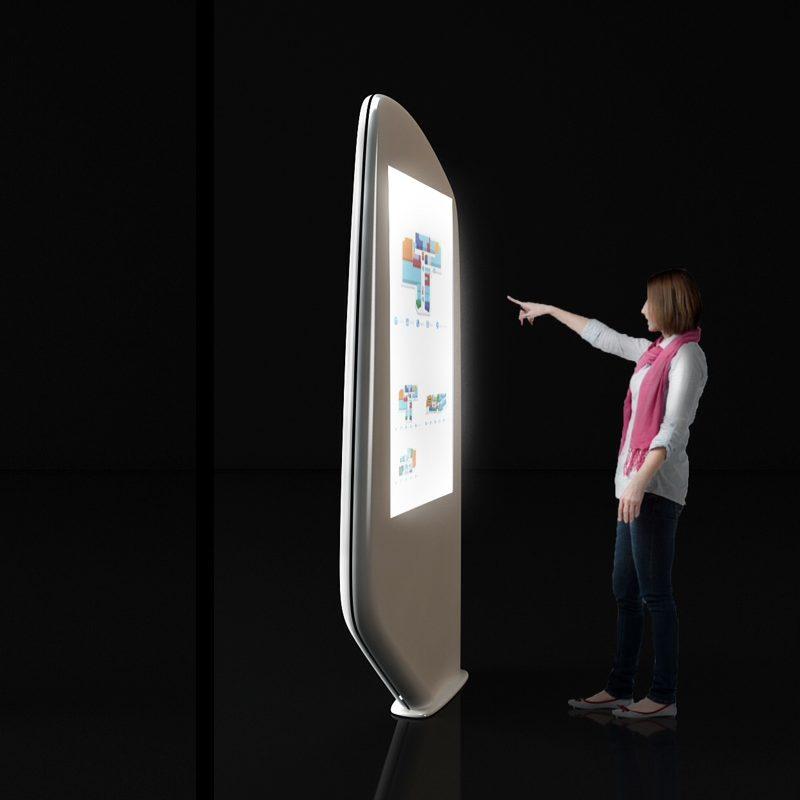 Strand z ekranem dotykowym 46 cali wykonany z kompozytu