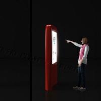 Stand kolumnowy z ekranem dotykowym 46 cali multimedialny wykonany z włókna szklanego