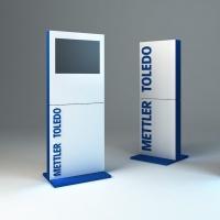Stand kolumnowy reklamowy mettler toledo-projekt