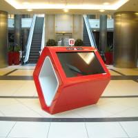 Standy mapy interaktywne czerwone Lublin Plaza