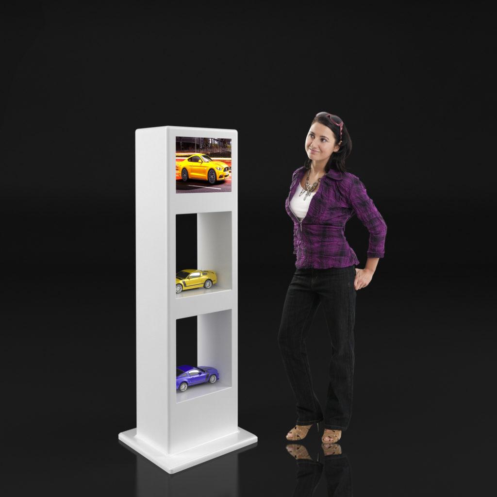 stand samosprzedający z monitorem dotykowym 19 cali