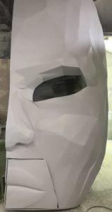 maska z włókna szklanego z ustami