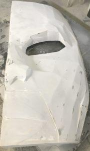 maska z włókna szklanego ze sklejonymi ustami