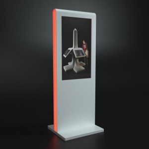 Stand multimedialny z podświetleniem led z kompozytu