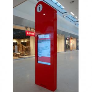 Stand interaktywny z dotykowym monitorem 42 cale wykonany z włókna szklanego
