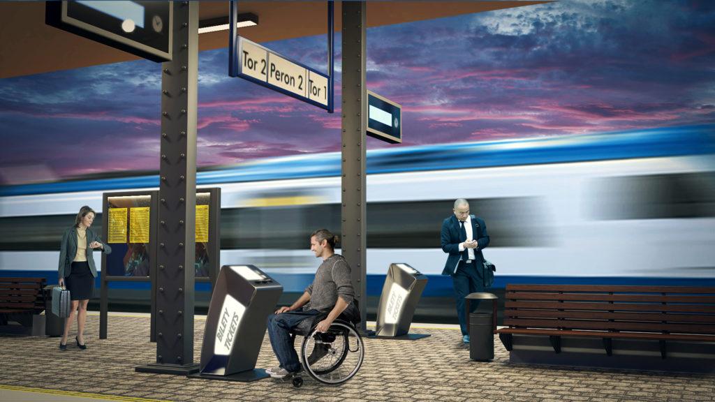 infokiosk dla niewidomych Infokiosk dla niepełnosprawnych
