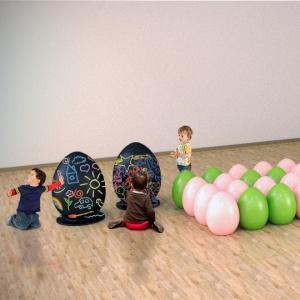 jajka wykonane z włókna szklanego do malowania przez dzieci