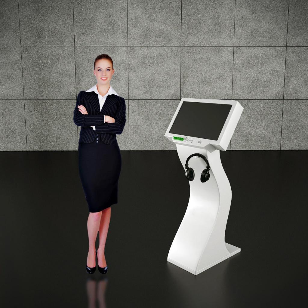 kiosk interaktywny z drukarkąwykonany z włókna szklanego