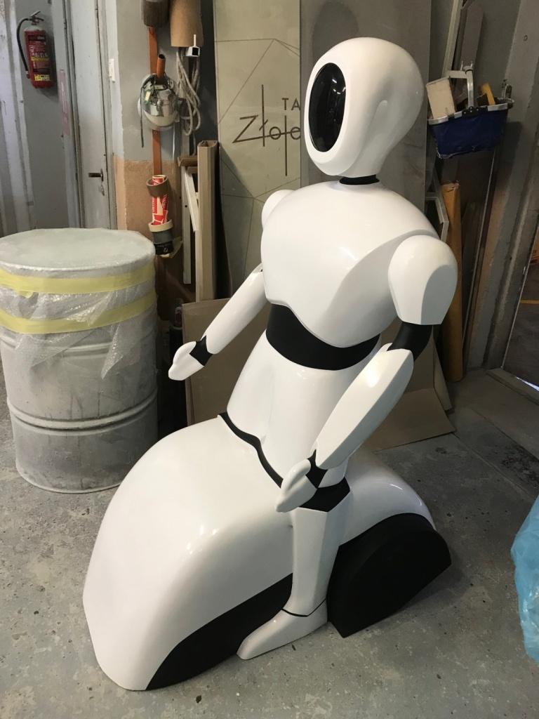 Robot humanoid z włokna szklanego