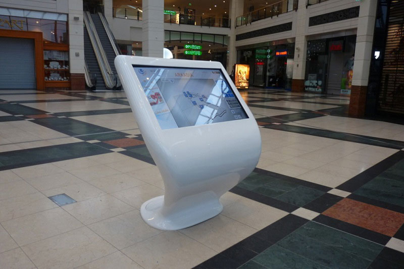 Wayfinder infokiosk Centrum handlowe Arkadia